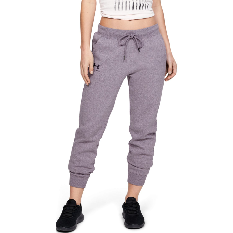 Under Armour Rival Fleece Sportstyle Graphic Pant Lila Pantalones deportivos