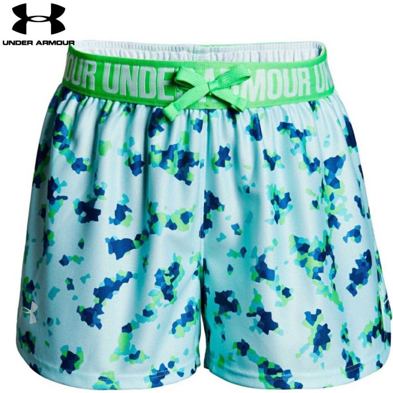 Under Armour Printed Play Up Short Celeste Shorts Deportivos