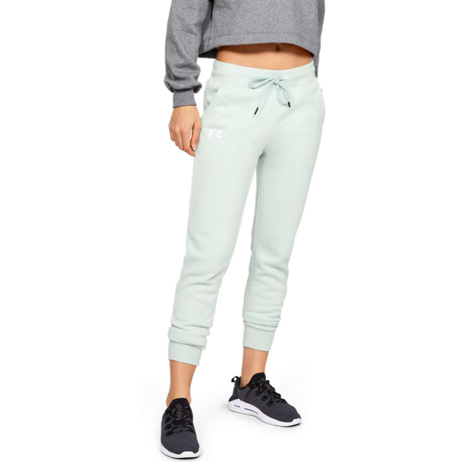 Under Armour RIVAL FLEECE SPORTSTYLE GRAPHIC PANT Acero Pantalones deportivos