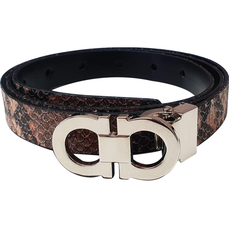 TABU Correa Lemi Reversible ANIMAL PRINT/NEGRO Correas y Cinturones