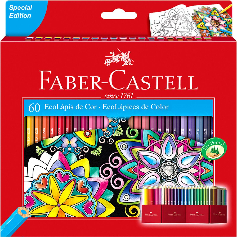 FABER CASTELL ECOLAPICES DE COLORES LARGOS X60 Varios Lápices de madera coloreados