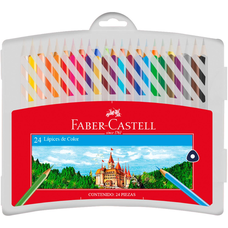 FABER CASTELL Lapices De Color Triangulares X24 Varios Lápices coloreados
