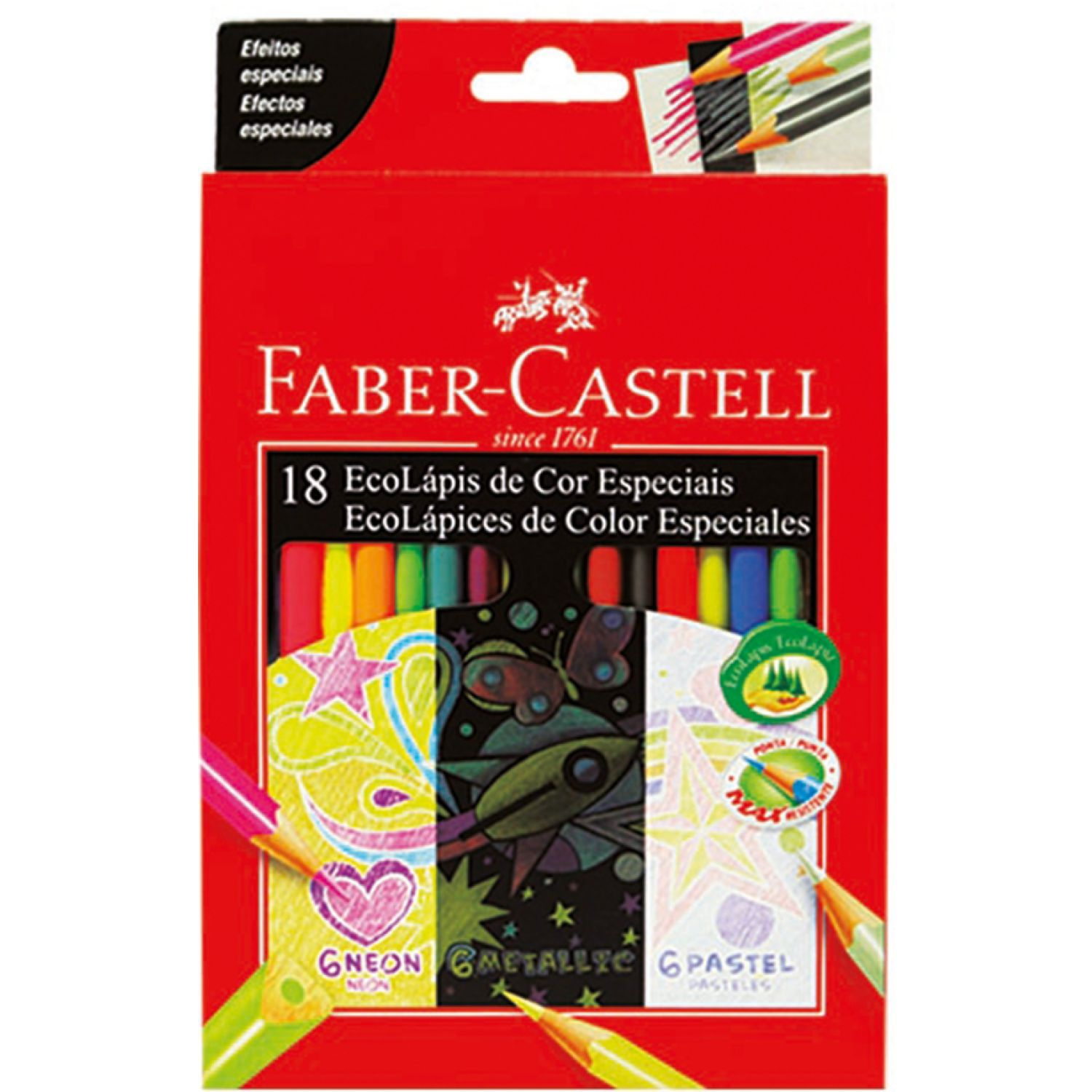 FABER CASTELL Ecolapices De Colores Past Neo Metx18 Varios Lápices coloreados