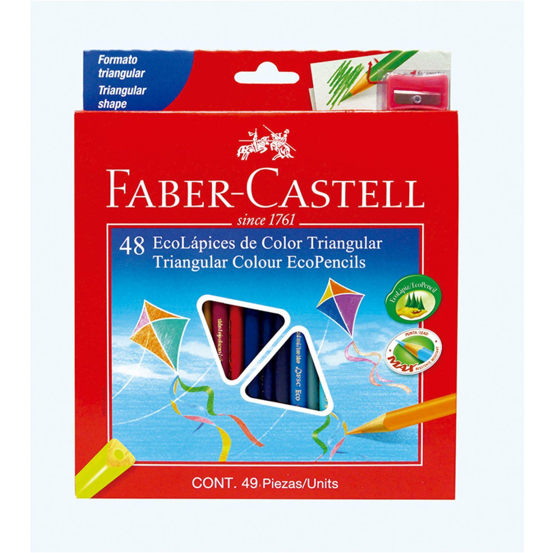 FABER CASTELL Ecolápices De Colores Triangularesx48 Varios Lápices coloreados