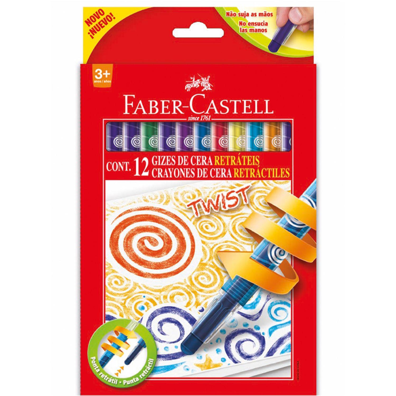FABER CASTELL TWIST CRAYONS 141412RT  X 12 Varios Crayolas