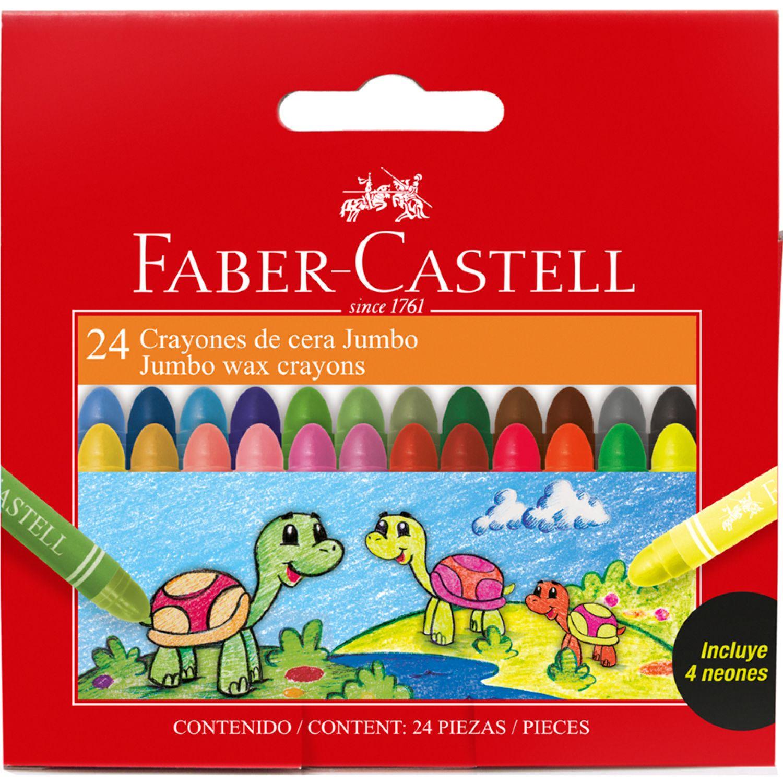 FABER CASTELL CRAYONES DE CERA JUMBO ESTUCHE X24 Varios Lápices de color