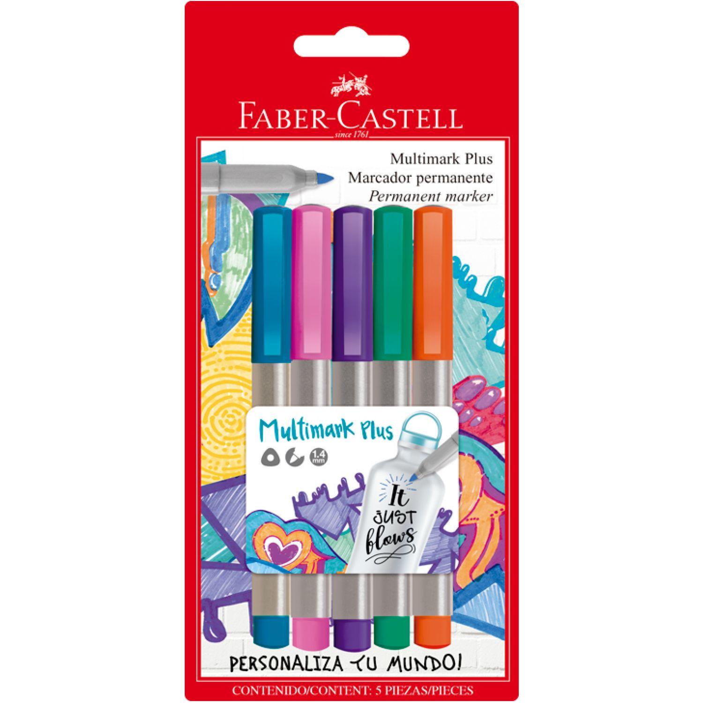 FABER CASTELL Marcad Multimark Plus Color Pastel X5 Varios Marcadores borrables