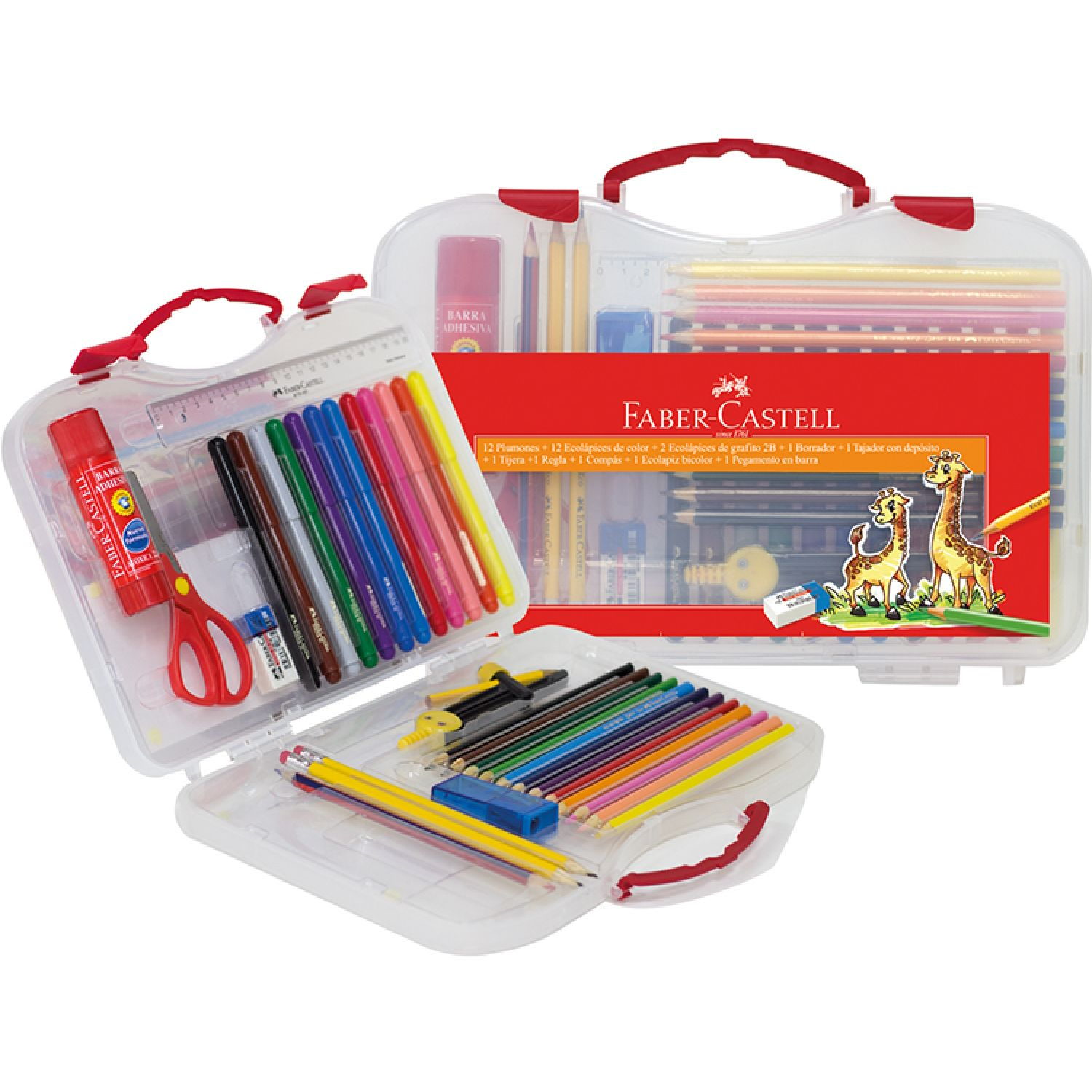 FABER CASTELL Pack Escolar Varios Lápices de color