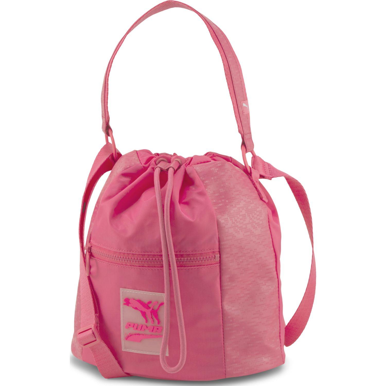 Puma Prime Time Bucket Bag Fucsia bolsos de lazo