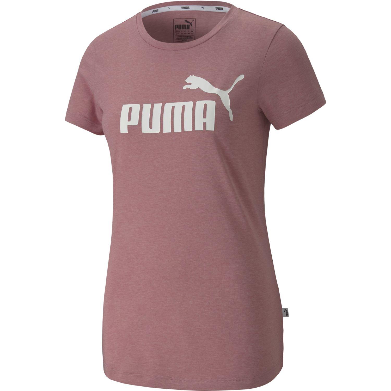 Puma Ess+ Logo Heather Tee Lila Polos