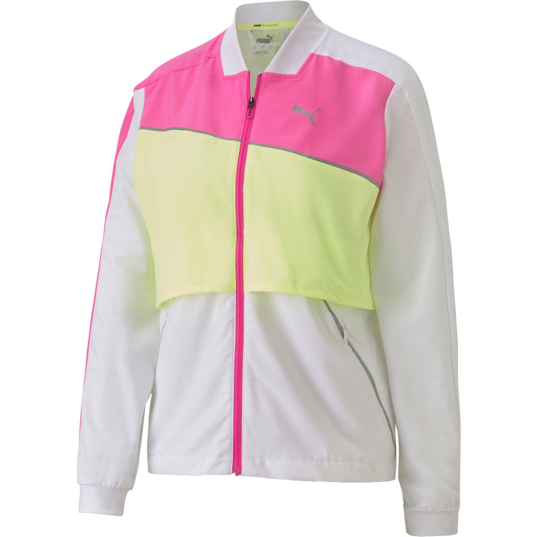 Puma Run Ultra Jacket Blanco / rosado Casacas de Atletismo