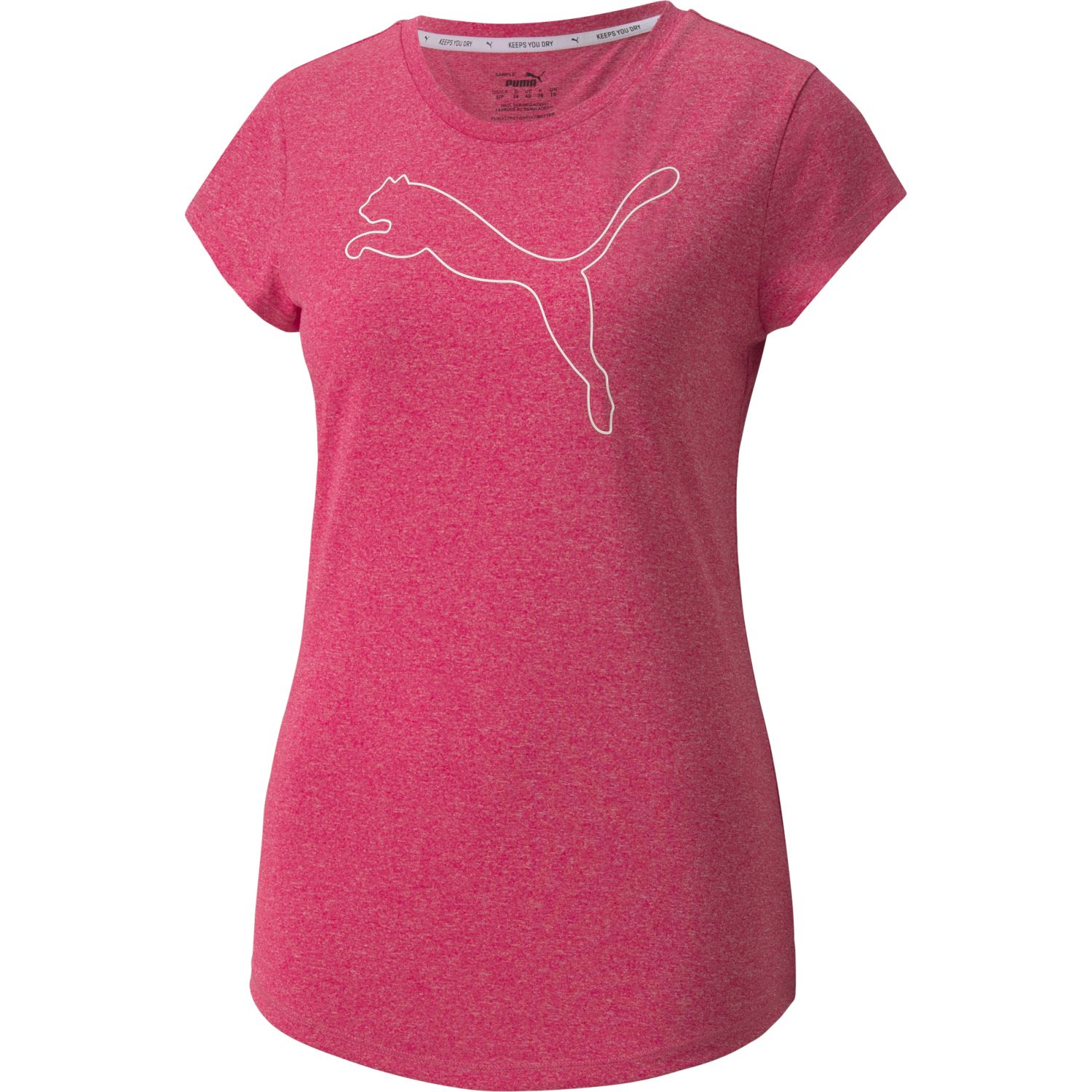 Puma Active Logo Heather Tee Fucsia Polos