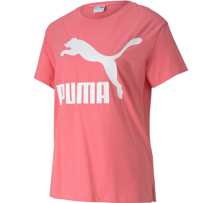 Puma Classics  Logo Tee Rosado Polos