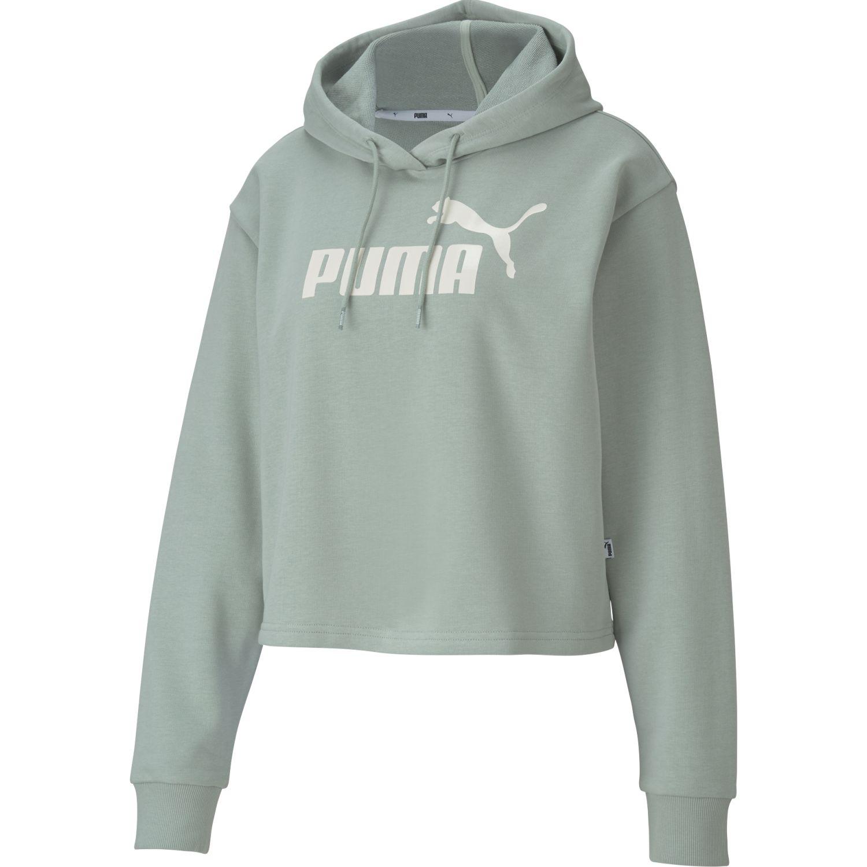 Puma Ess+ Metallic Cropped Hoody Tr Gris Hoodies Deportivos