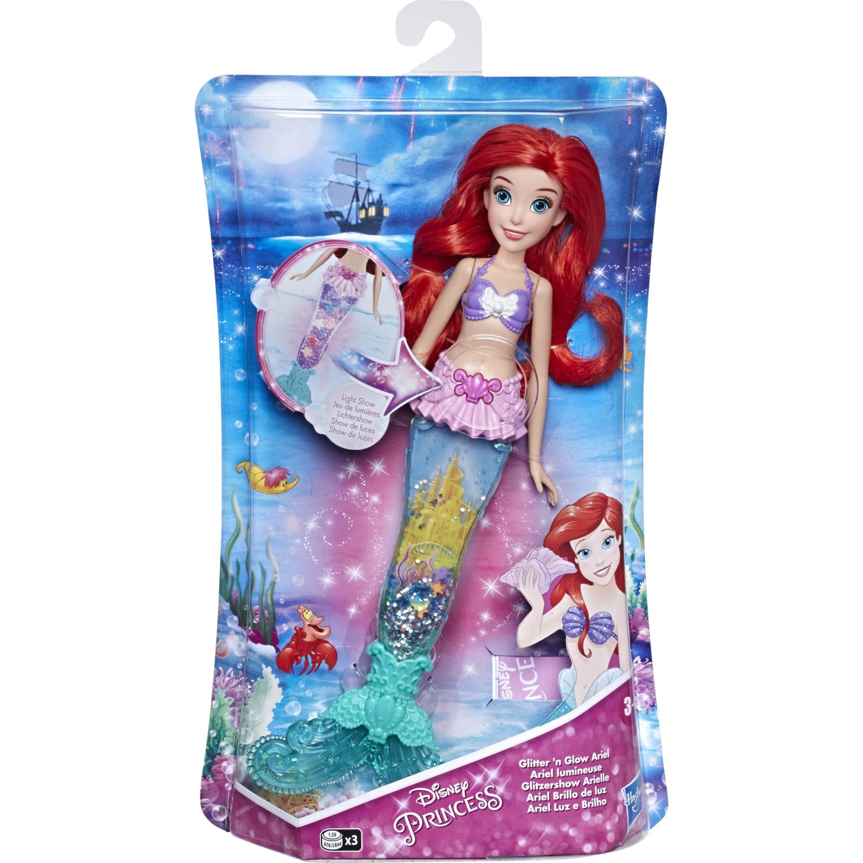 Princesas Dpr Glitter N Glow Ariel Varios Muñecas