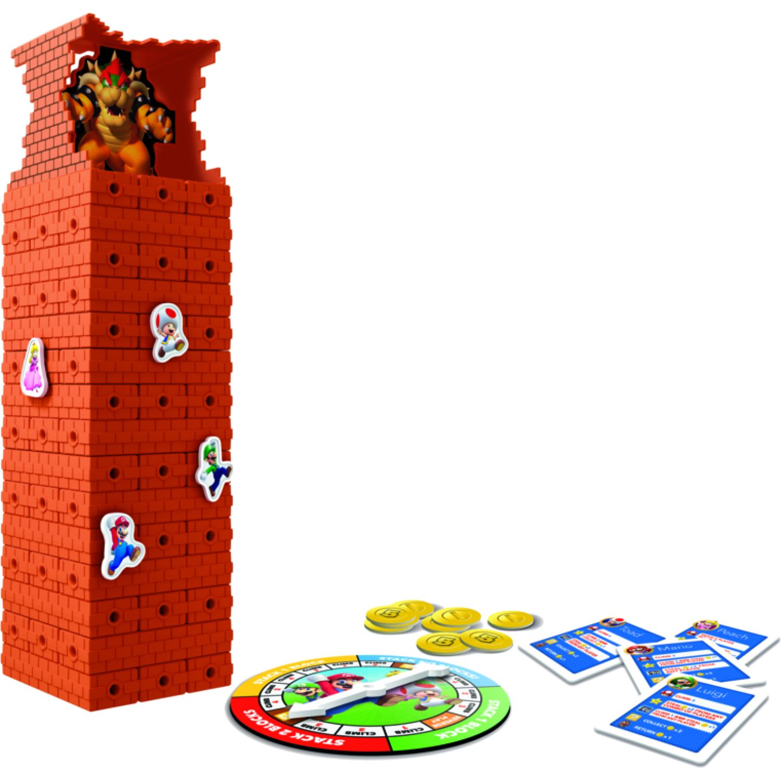 GAMING-HASBRO Super Mario Jenga Varios Juegos de Mesa