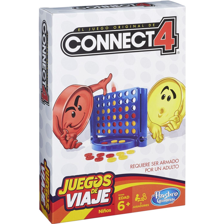 GAMING-HASBRO Connect 4 Grab And Go Varios Juegos de Mesa