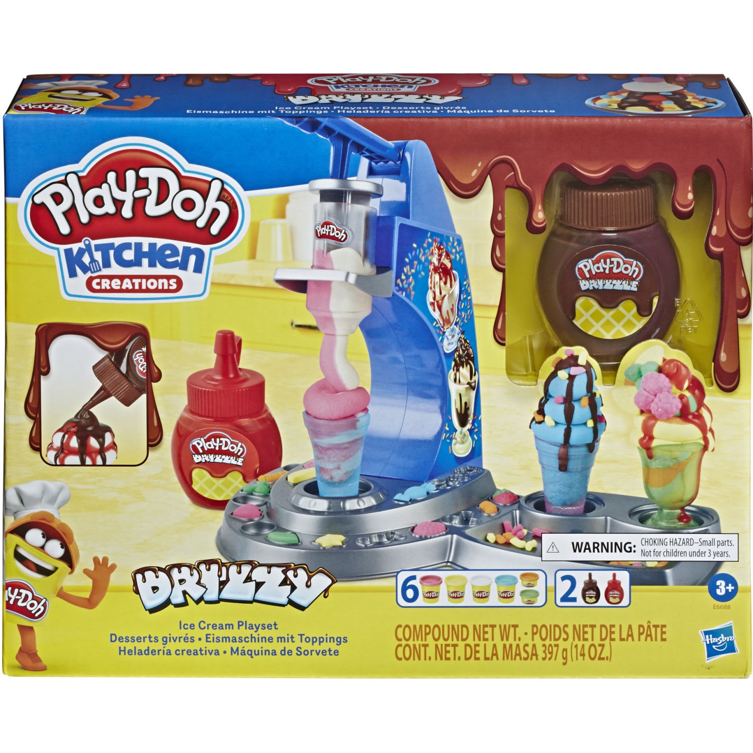 PLAY-DOH Pd Drizzy Ice Cream Playset Varios Modelado y Escultura