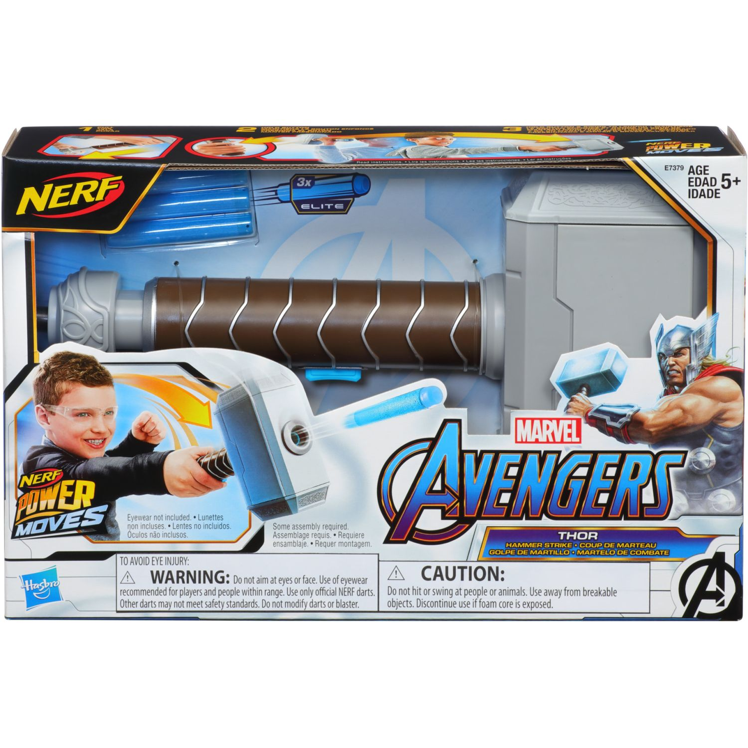 Avengers Avn Power Moves Role Play Thor Varios Antifaces