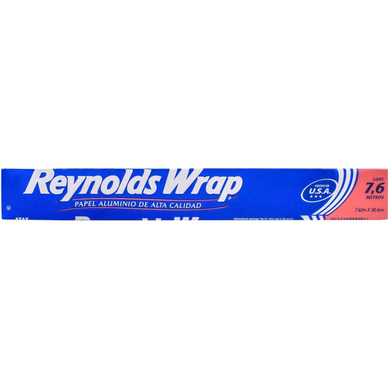 Reynolds Wrap Papel Aluminiox25sf(7.6mx30.4cm) Sin color Papel de aluminio