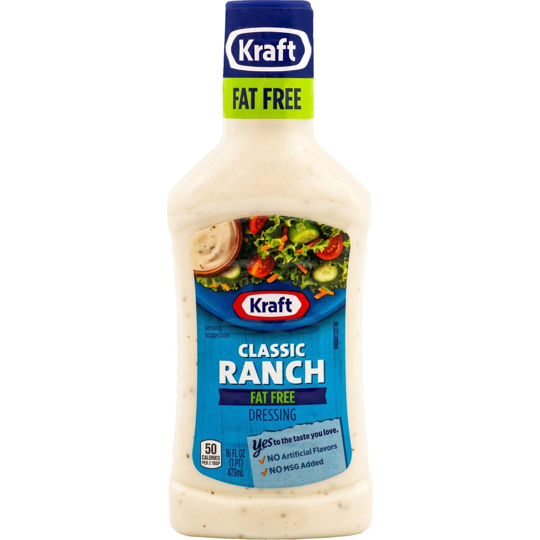 KRAFT Aderezo Ranch Fat Free X 473 Ml Sin color Vinagreta