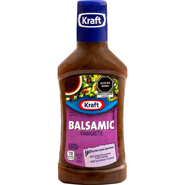 KRAFT Salsa Vinagreta Balsamic X 473ml Sin color Vinagreta