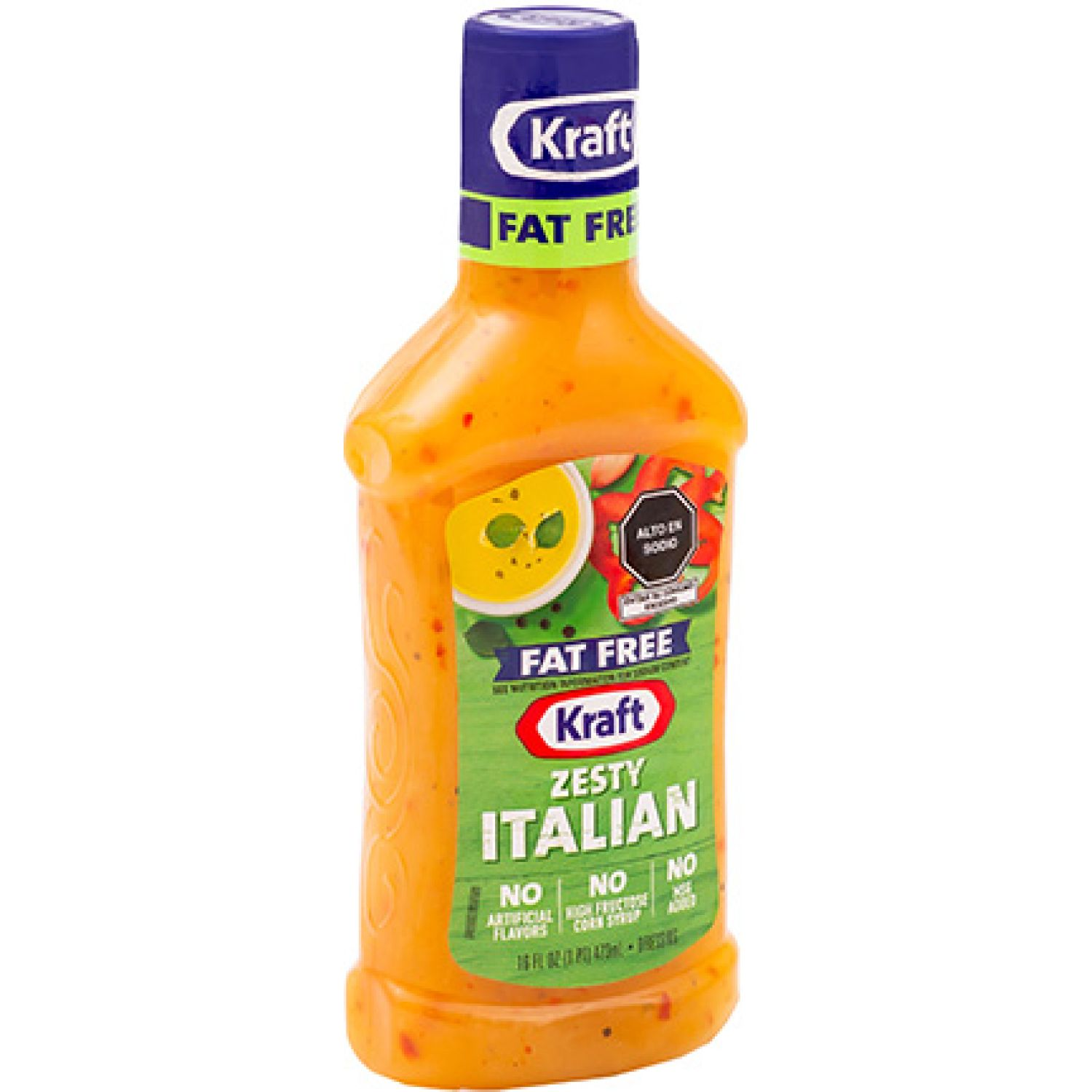 KRAFT Aderezo Zesty Italian Fat Free X 473 Ml Sin color Vinagreta