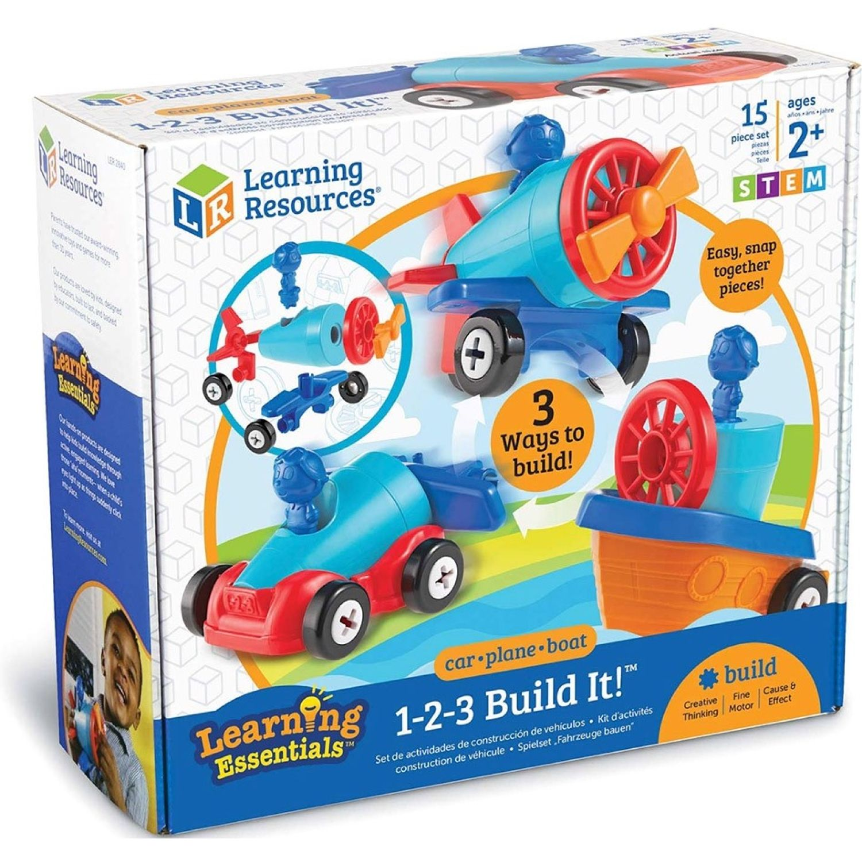 LEARNING RESOURCES 123 Build It! MULTICOLOR Juegos de Construcción