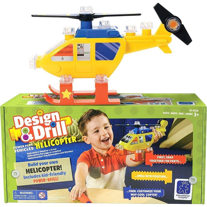 EDUCATIONAL INSIGHTS Taladro / Accesorios Helicoptero MULTICOLOR Juegos de Construcción
