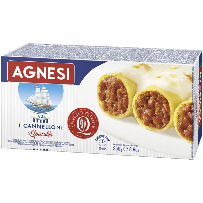 AGNESI Canelloni 250gr Sin color Leche de arroz