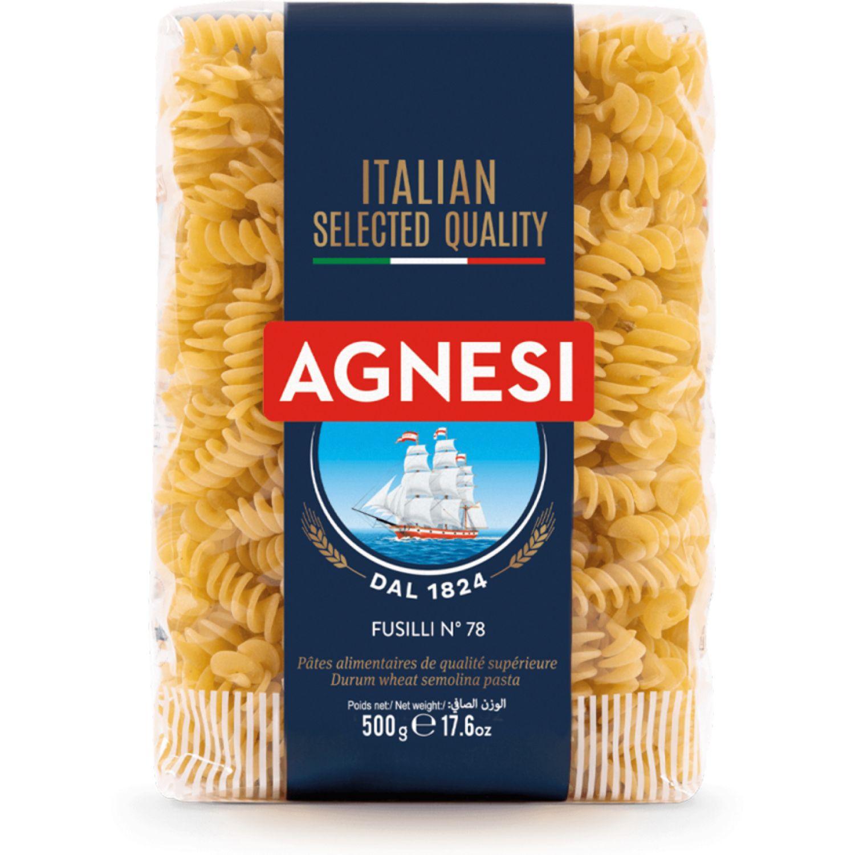 AGNESI Fusilli #78 X500g. Sin color Leche de arroz