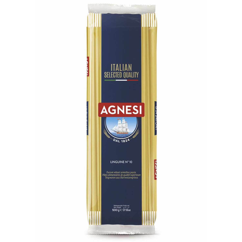 AGNESI Linguine #10 500 Gr Sin color Leche de arroz