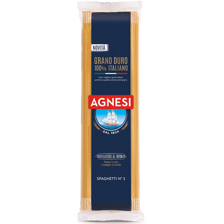 AGNESI Spaghetti #03 500 Gr Sin color Leche de arroz