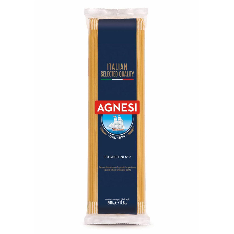 AGNESI Spaghettini #02 500 Gr Sin color Pastas