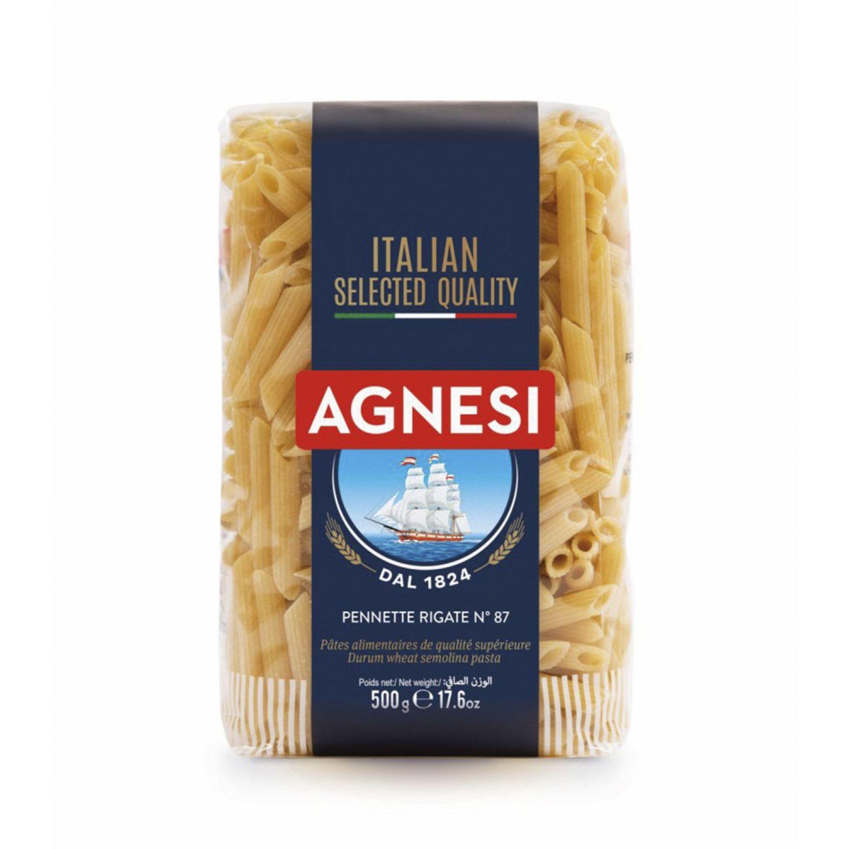 AGNESI Pennette Rigate #87 500 Gr Sin color Leche de arroz