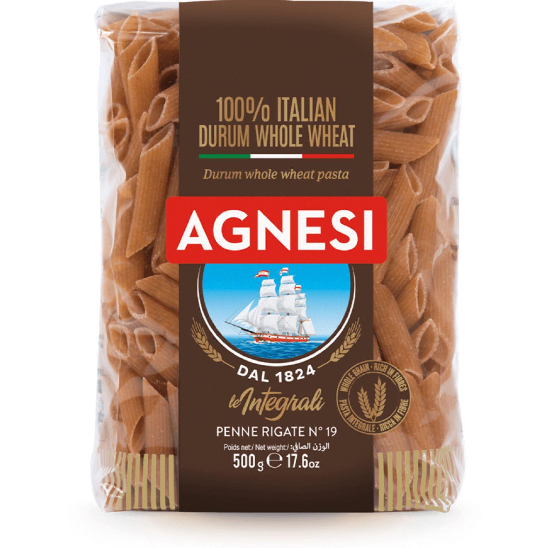 AGNESI Penne Rigate Integral 500gr Sin color Leche de arroz