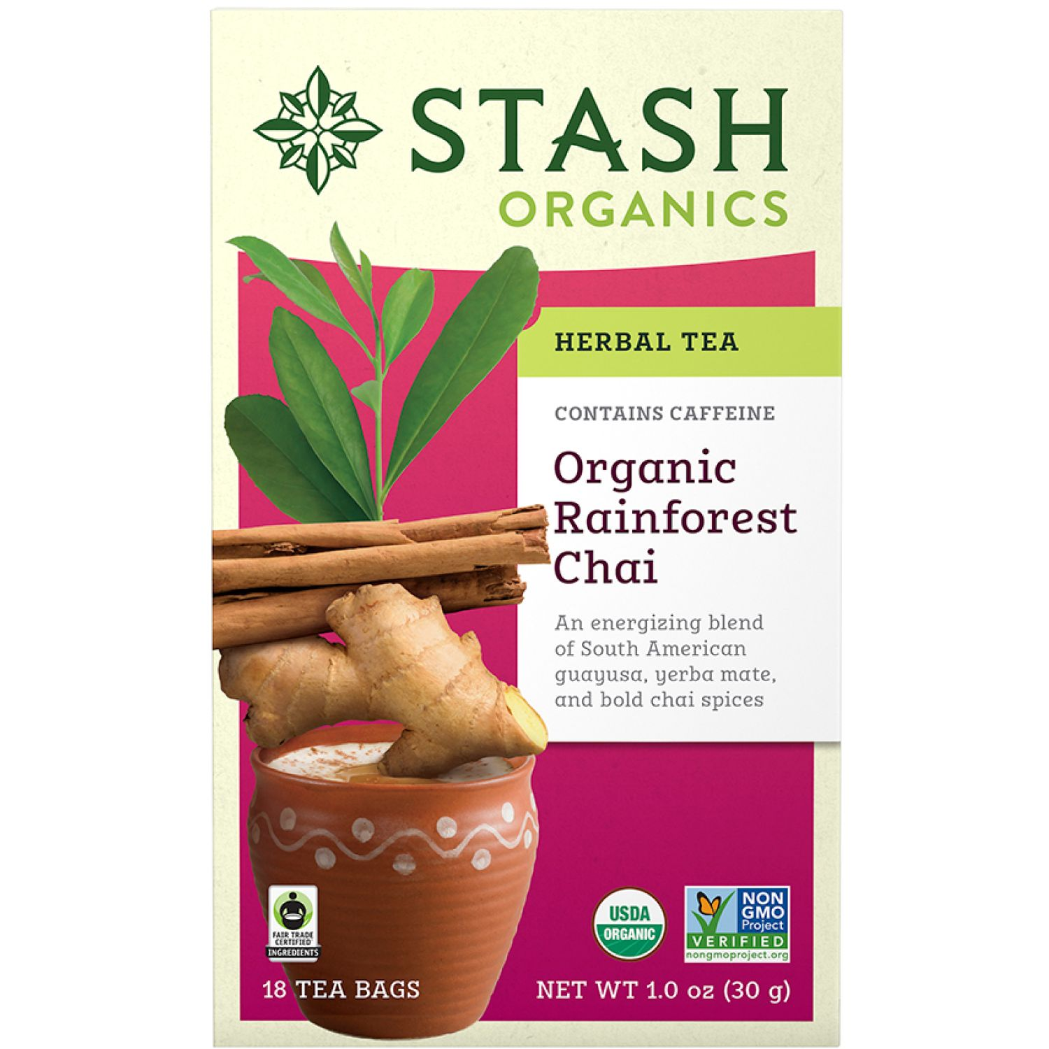 STASH Te Chai Rainforest Organico Sin color Té