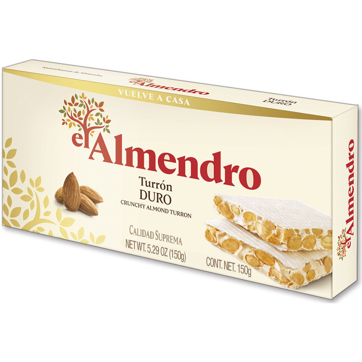 el Almendro Turron Duro 150 Gr Sin color Traditional y international sweets