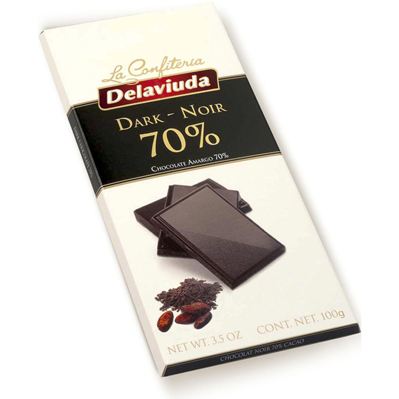Delaviuda Chocolate Negro 70% 100 G Sin color Surtidos de dulces y chocolate