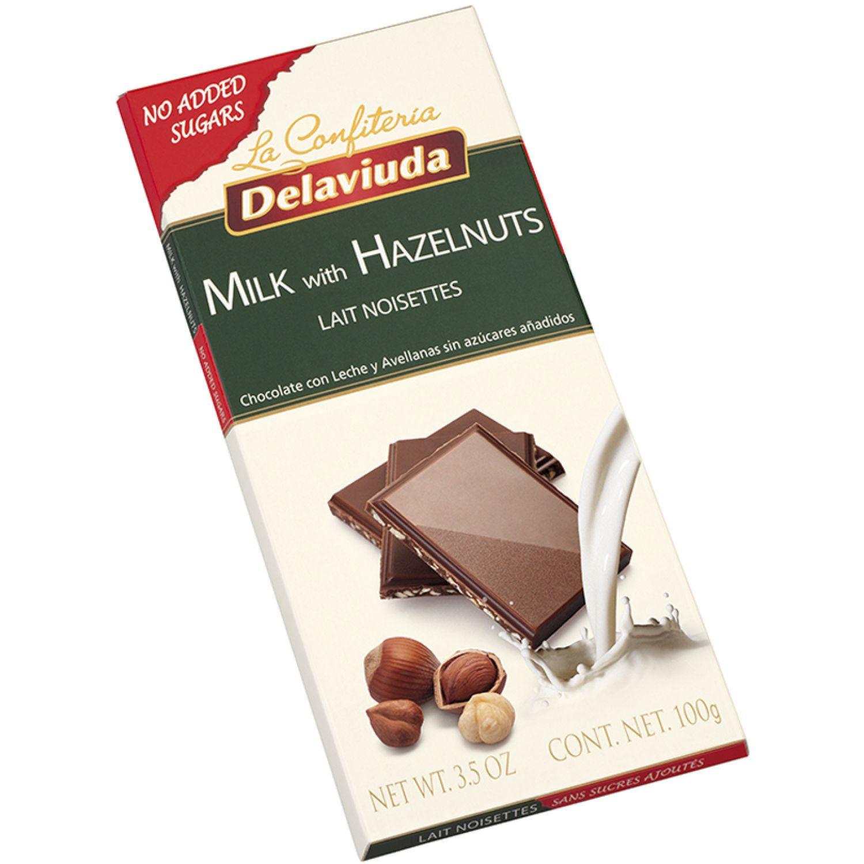 Delaviuda Chocolat C/Leche Avellanas S/Azu100 Sin color Surtidos de dulces y chocolate