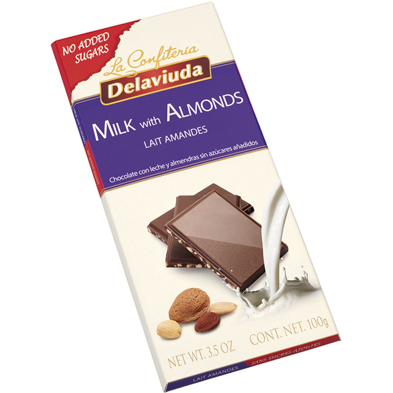 Delaviuda Chocol C/Leche Almendras S/Azu 100g Sin color Surtidos de dulces y chocolate