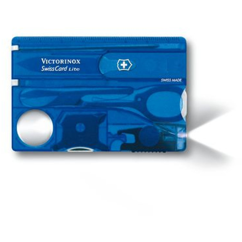 Victorinox TARJETA-SWISSCARD LITE TRANSLÚCIDO Azul Multi herramientas
