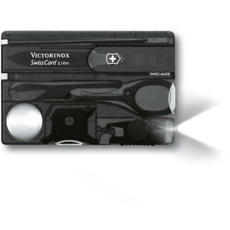 Victorinox Tarjeta-Swisscard Lite Translúcido Negro Multi herramientas
