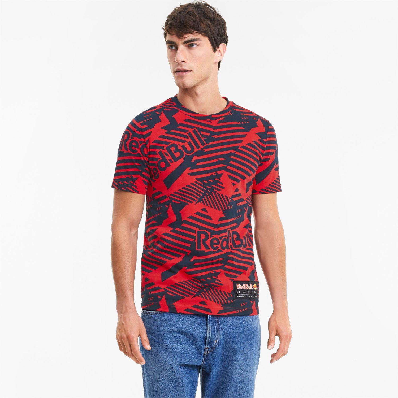 Puma Rbr Aop Tee Rojo Camisetas y Polos Deportivos