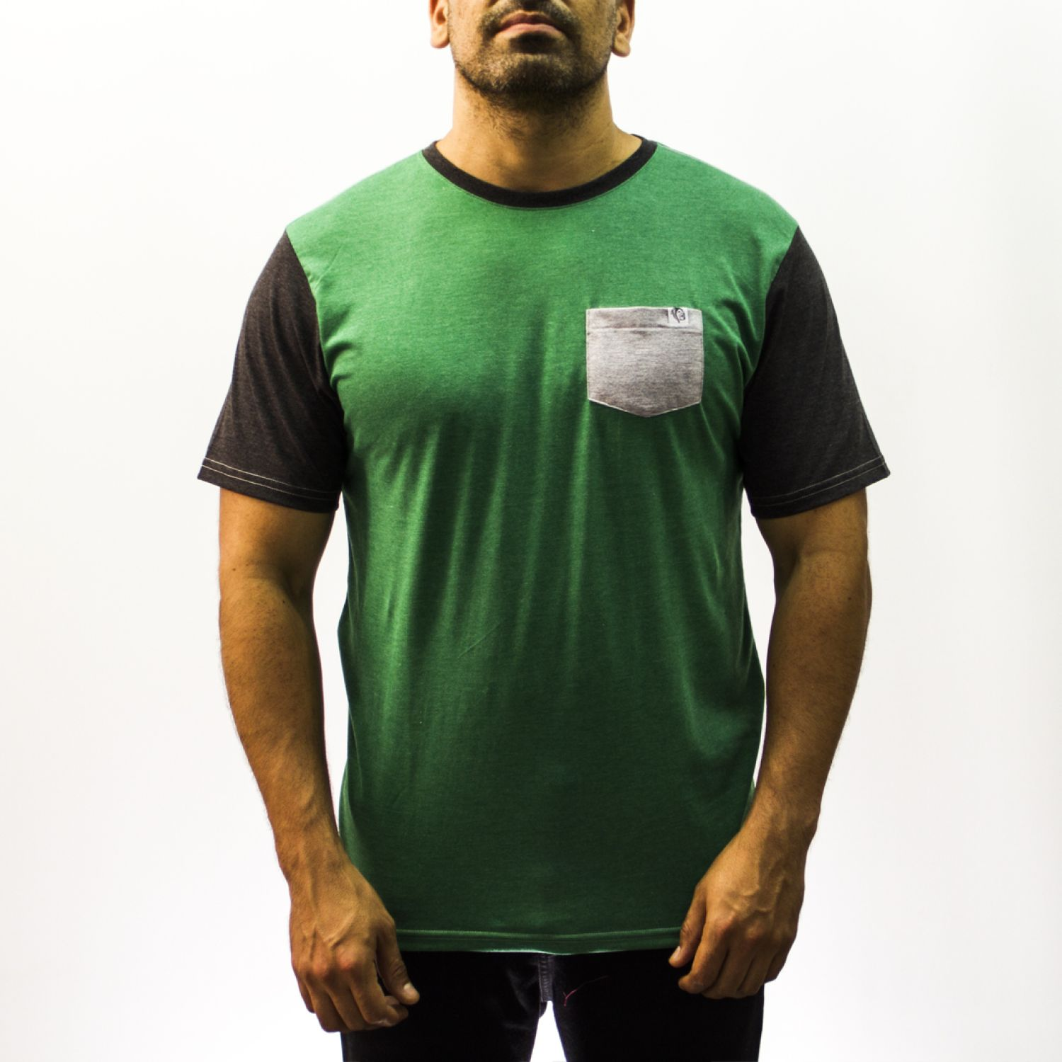CHAMAN ZUPAY Negro / verde Polos