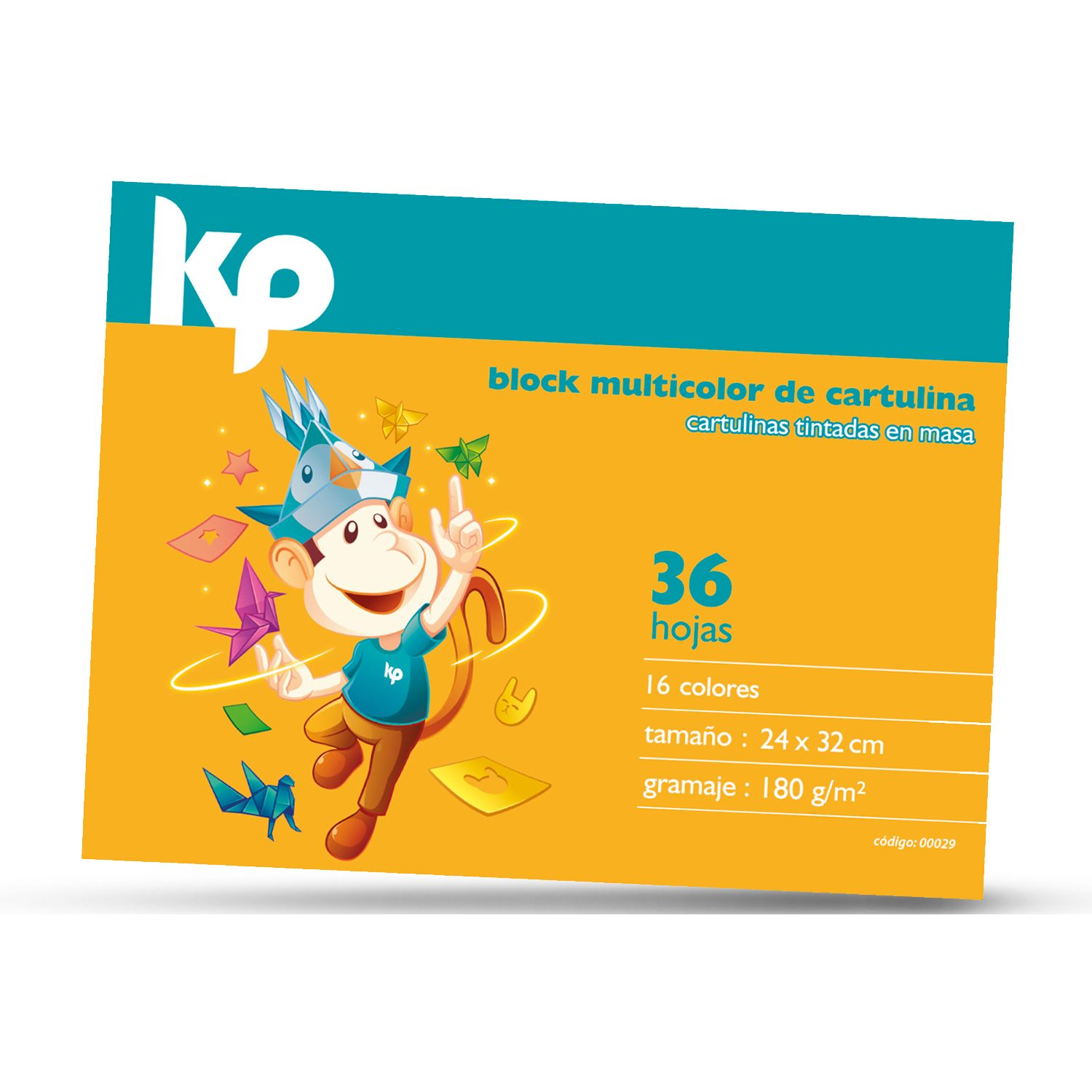 KP Block Cartulina Color 180g/M2 (36 Hj.) Varios Blocs de notas