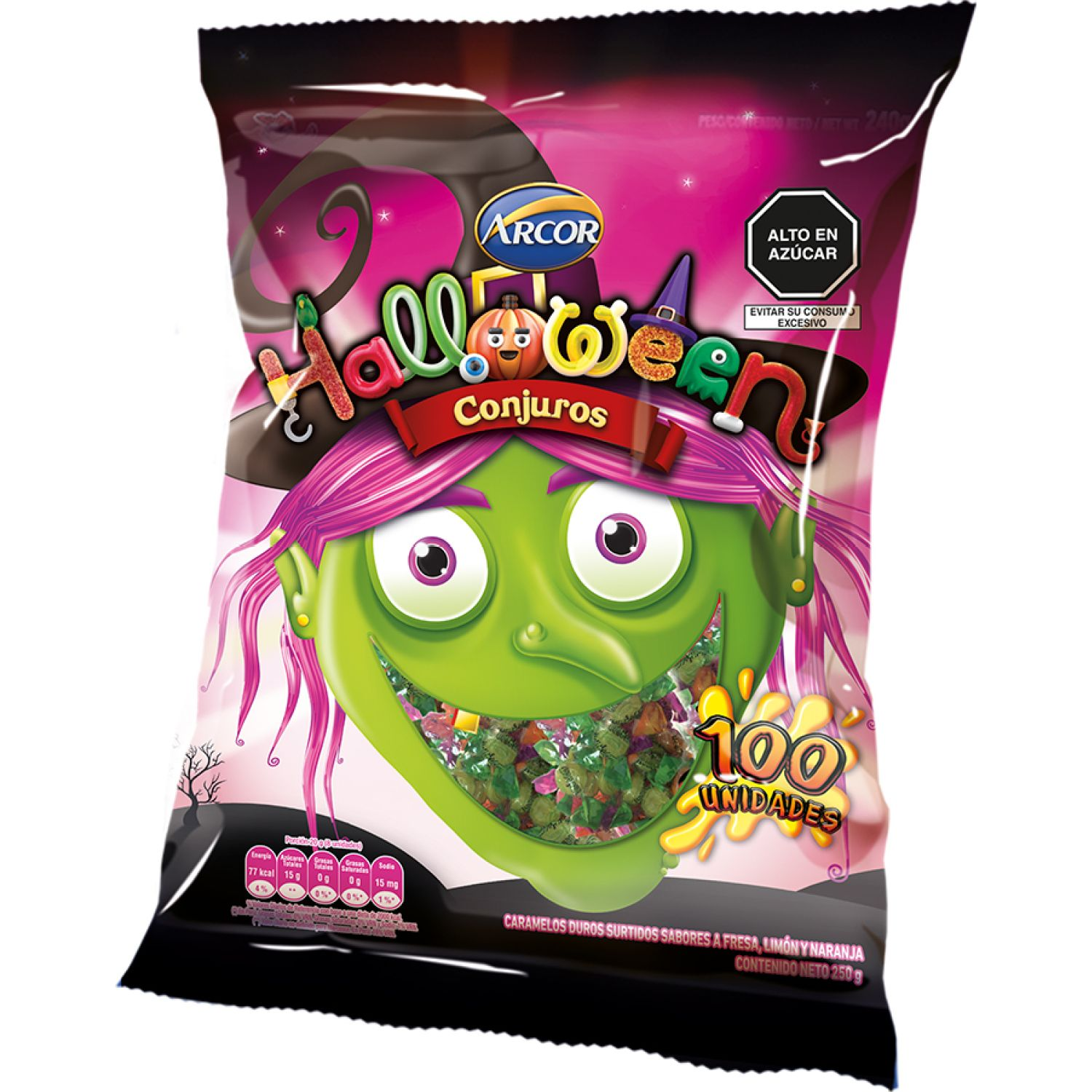 ARCOR HALLOWEEN CONJUROS 250g Sin color Los surtidos de dulces y chocolate