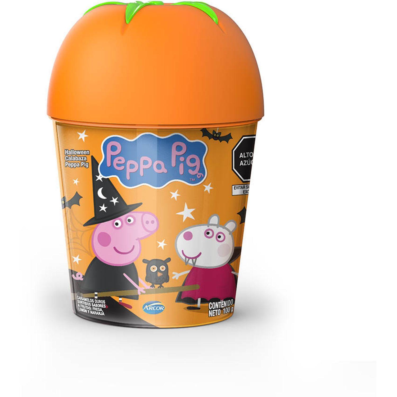 ARCOR Halloween Balde Calab Peppa Pig Brujita 100g Naranja Los surtidos de dulces y chocolate