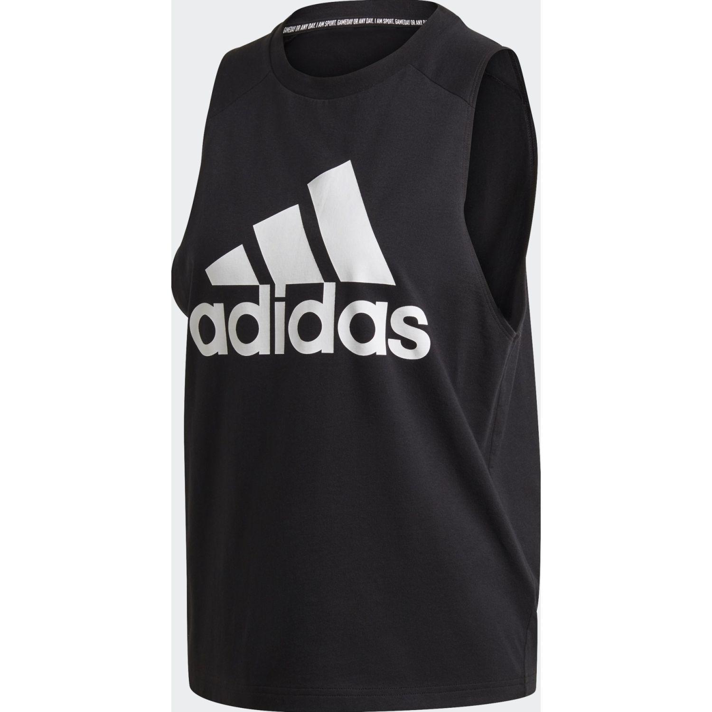 Adidas W BOS CO TANK Negro / blanco Tank Tops