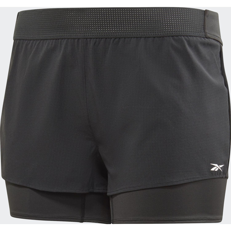 Reebok Ts Epic Short 2 In 1 Negro Shorts Deportivos